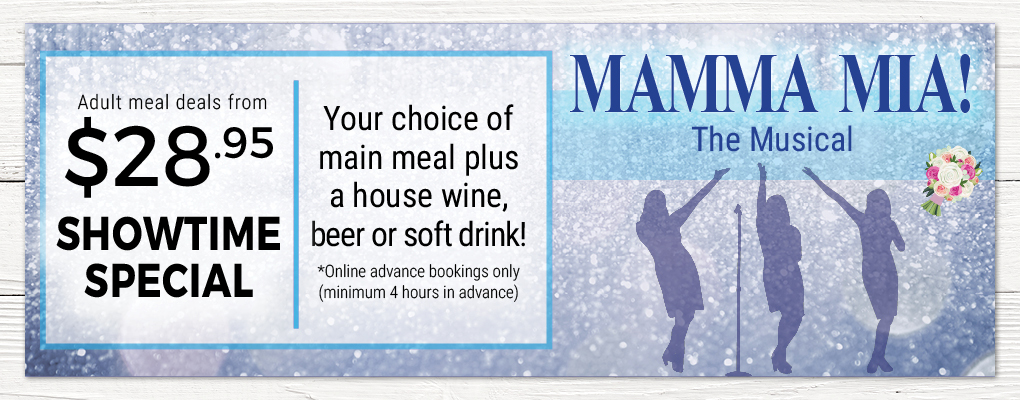 Mama Mia Meal Deal at Palace Hotel Sydney